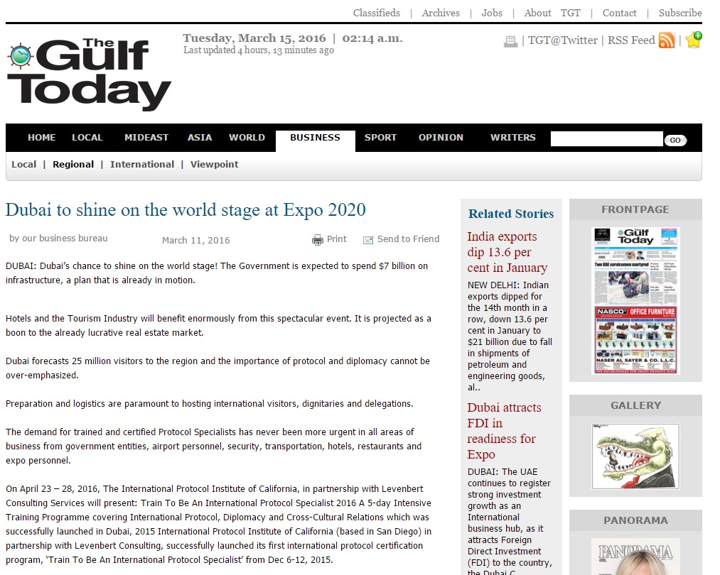 Dubai to shine on the world stage at Expo 2020